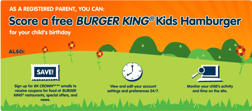 bk birthday1 Free Burger King Kids Hamburger