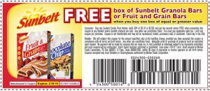 sunbeltcoupon 300x130 Sunbelt Granola Bar: High Value Buy One Get One FREE   Printable Coupon