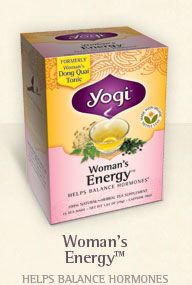 womans energy Yogi Teas: 2 Free Samples