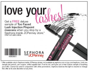 sephora 300x239 Free Sephora Sample: Too Face Lash Injection Mascara