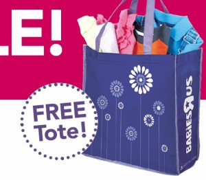 Free Tote1 300x262 Babies R US: Free Tote Plus 25% Off