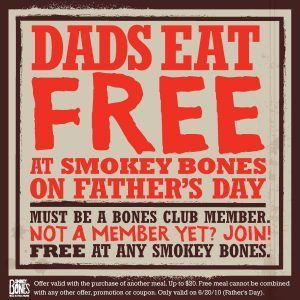 smokeybonesdad 300x300 Smokey Bones: Free Dinner For Dad