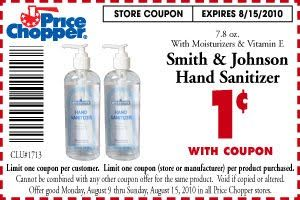 Sanitizer Price Chopper: Smith & Johnson hand Sanitizer only 1¢