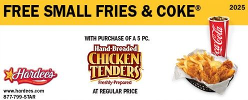 hardees Hardees Coupon: Free Fries And Coke
