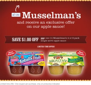 mussellmans 300x279 Musselmans Applesauce: High Value Printable Coupon