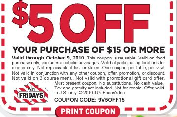 image regarding Fridays Printable Coupons named T.G.I. Fridays Coupon: 25% Off Full Obtain