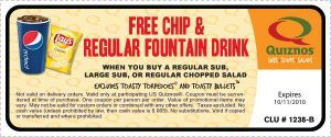 clu1238B 300x125 Quiznos: New Printable Coupons   Free Chips and Drink!