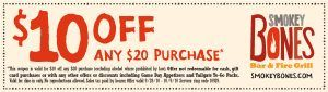 smokeybones9 29 300x85 Smokey Bones $10 Off $20 Coupon