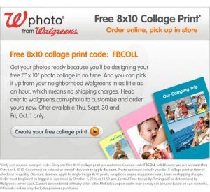 walgreenscollage9 30 300x275 Walgreens: Free 8x10 Collage Print