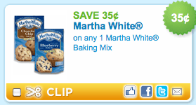 Martha white couponpng Walmart: Martha White Mixes only 43¢!