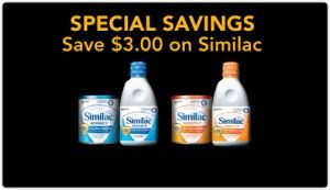similac 300x173 Walmart: Similac 84¢ after Coupon!