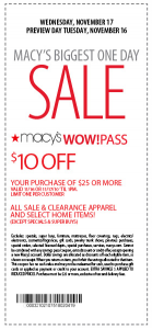 Macy printable coupons 10 off 25 december