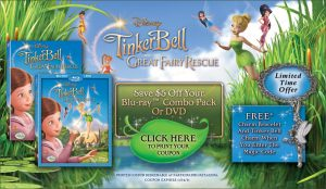Tinkerbell 300x174 Tinkerbell and the Great Fairy Rescue DVD + Bracelet only $5!