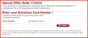 extracare1 300x130 CVS: Free Bioluxe Shampoo, Conditioner or Toothbrush