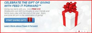 feedit 300x109 Feed It Forward   Free $10 Restaurant.com Gift Cards