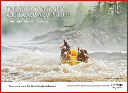 Request a Free 2011 Great Ontario Outdoor Adventure Calendar (plus much