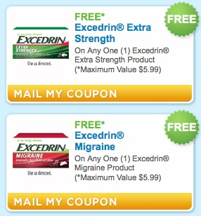 excedrin1 HOT!! Free Excedrin Products!!