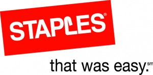 staples logo1 300x148 Staples Coupon: Free Reusable Tote Bag + 15% off your Purchase