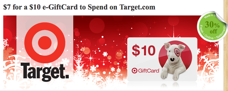 Picture 25 $10 Target eGift Card for $7!! {updated}