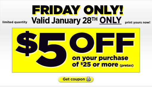 dollar general coupon Dollar General: $5 off $25 Printable Coupon (1/28 only)