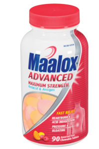 maalox antacid and antigas advanced maximum strength assorted fruit chewable tablets profile 199x300 MORE High Value Coupons: $2 to $5 off Health Products!
