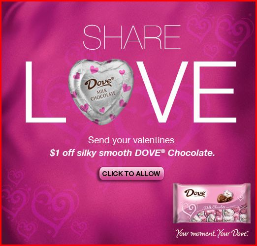 dove *HOT* Dove Chocolate Coupon