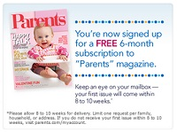 free parents magazine subscription Free 6 month Subscription to Parents Magazine