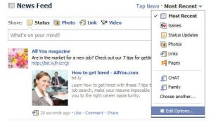 newsfeed 300x174 Posts Not Showing Up On Your Facebook News Feed? Heres the Fix!