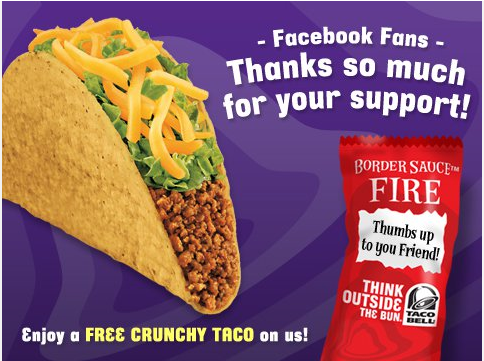 taco bell Taco Bell: Free Crunchy Taco Coupon