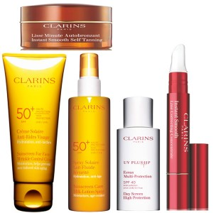 Clarins Collage  Clarins Giveaway