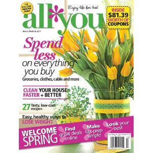 all you mag All You April Issue Coupons   Save $75