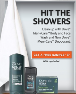 dove sample 245x300 Free Sample of Dove Men+ Care Body Wash & Deodorant