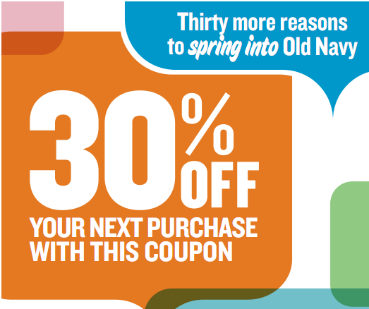 here is a great printable coupon for old navy
