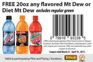 pilot mountain 300x201 Free Mountain Dew And Coffee At Pilot Travel Centers