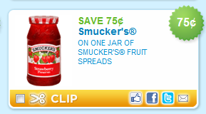 smuckers coupon $0.75 off One Smuckers Fruit Spread Coupon