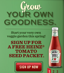 tomato seeds Free Heinz Tomato Seeds Packet