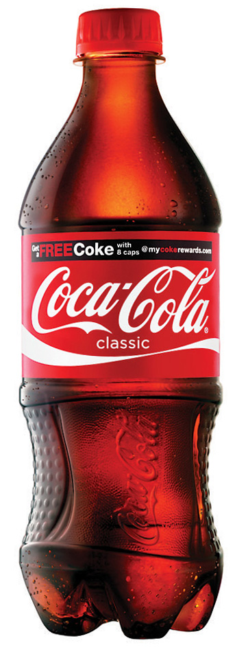 20oz coke btl $.99 Coca Cola Coupon = Free 14, 16 or 20 oz. Coke