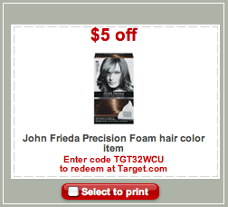 John Frieda Hair Color Target Coupon John Frieda Precision Foam Haircolor Money Maker at Target