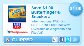 butterfinger snackerz Free Butterfinger Snackerz at Walgreens!