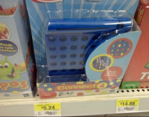 connect 4 travel 300x236 Travel Size Connect 4 only $2.24 at Walmart!