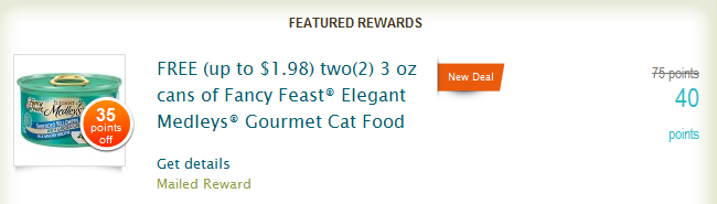 fancy feast Recyclebank: 2 Free Cans of Fancy Feast Coupons only 40 Points!