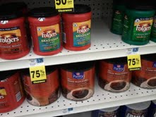 Rite Aid Clearance Finds   Folgers as low as $0.33 ea!