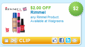 rimmel coupon $2 off Any Rimmel Product Coupon!