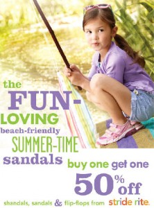 Girls Stride Rite Sandal BOGO 222x300 Stride Rite Sandal Giveaway & BOGO 50% off Sale!
