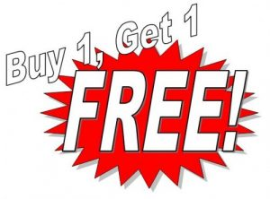 bogo1 500x370 300x222 FAQ: How Does a BOGO Free Sale Work With a BOGO Free Coupon?