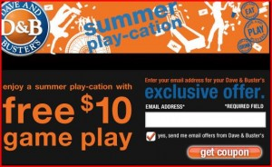 dave 300x184 Dave & Busters: Free $10 Game Play