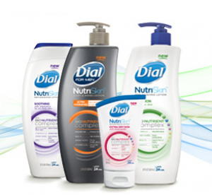 Dial 300x276 $1 off Dial Lotion Coupon