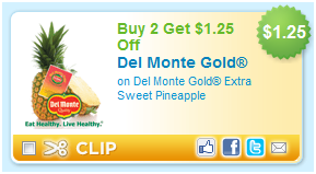 del monte gold pineapple HOT $1.25/2 Del Monte Gold Pineapple Coupon!