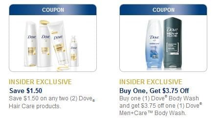 dovebodywash Printable Coupons: Ziploc, Shout, Dove & More