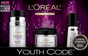 loreal youth code 300x189 $3 off LOreal Youth Code Coupon